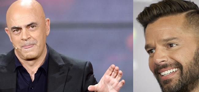 Crozza e Ricky Martin al Festival di Sanremo satira da copertina e musica pop