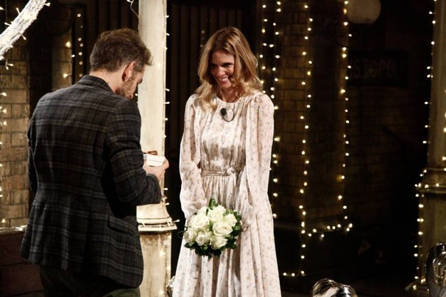 Daniele Bossari e Filippa Lagerback matrimonio al Gf Vip e Nicola Savino piange
