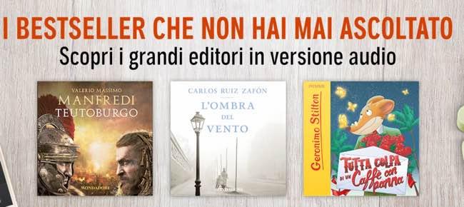 AUDIBLE i libri si ascoltano ecco le proposte dei grandi editori italiani
