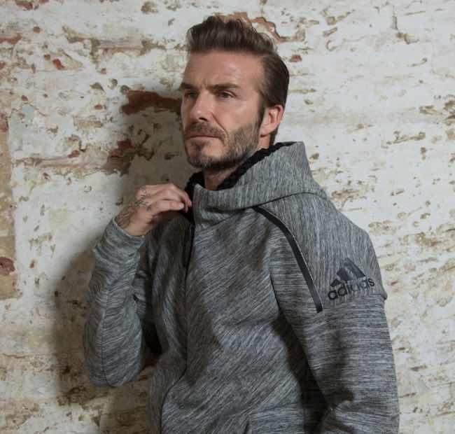 David Beckham arriva a Milano per l'apertura dello store adidas