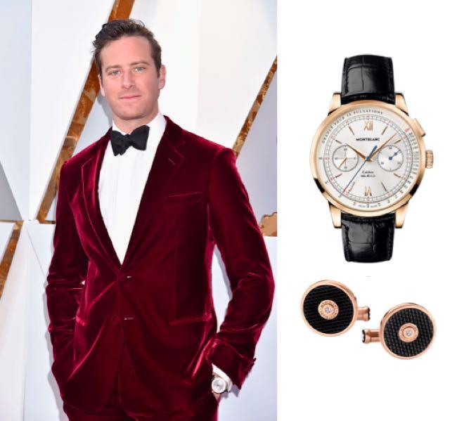 Armie Hammer abito e stilista Oscar 2018 per Chiamami col tuo nome