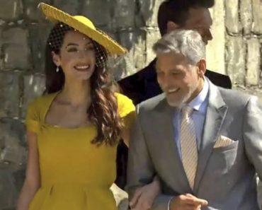 George Clooney al matrimonio di Harry e Meghan con un abito sbagliato
