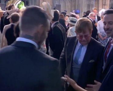 Matrimonio Harry e Meghan Elton John bacia Davide Beckham