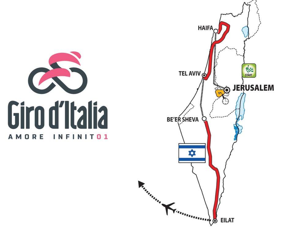 Giro D'Italia partenza da Gerusalemme Fabio Sabatini primo corridore