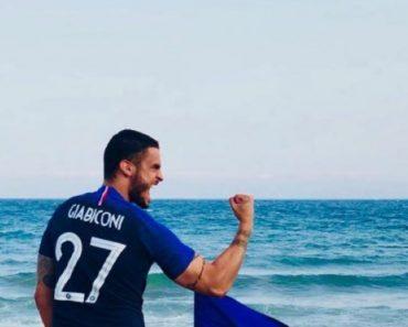 Mondiali 2018 Baptiste Giabiconi si toglie le mutande per festeggiare la Francia