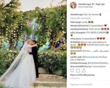 Matrimonio Ferragnez ben 32 milioni di visualizzazioni su instagram, record!
