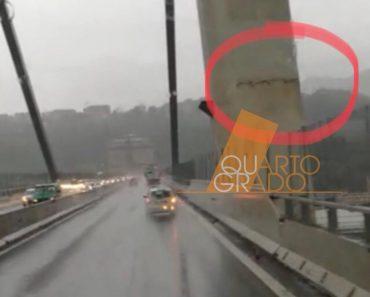 Crollo del Ponte Morandi la causa una crepa nel pilastro? La foto e il video di Quarto Grado